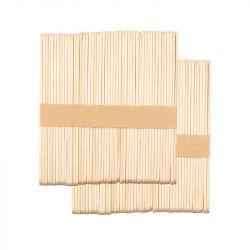 Dřevěná špachtle střední 114x10x2 mm - 100  ks