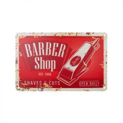 Plechová retro cedule Barbershop B013
