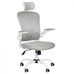 Kancelářská židle MAX COMFORT 73H - šedo-bílá
