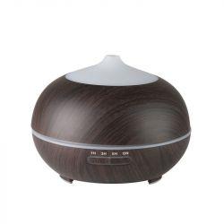 Aroma difuzér zvlhčovač SPA-06 tmavé dřevo 400 ml + časovač