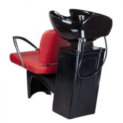 Kadeřnický mycí box LIVIO BD-7822 červený