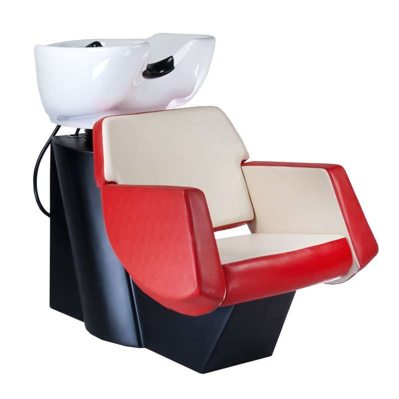 Kadeřnický mycí box NICO BD-7821 červeno-béžový