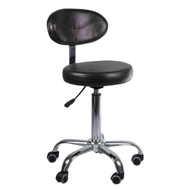 Kosmetická stolička s opěrátkem BD-9934 černá