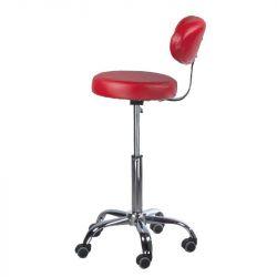 Kosmetická stolička s opěrátkem BD-9934 červená