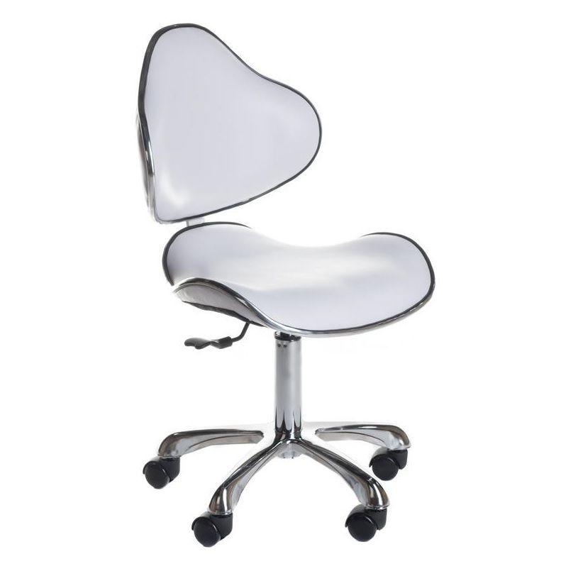 Kosmetická stolička s opěrkou BD-9933 bílá