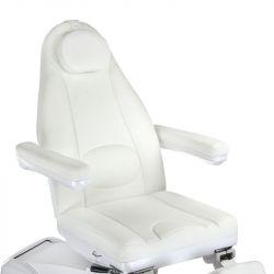 Elektrické křeslo kosmetické BR-6672A bílé