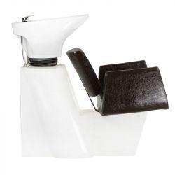 Kadeřnický mycí box VITO hnědá