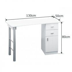 Kosmetický stolek Giovanni DM135 bílý