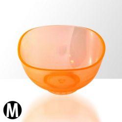 Sada 3 silikonových misek na alg. a krémové masky - oranžové