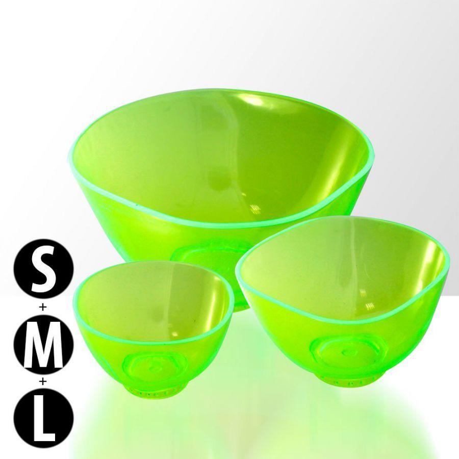 Sada 3 silikonových misek na alg. a krémové masky - zelené