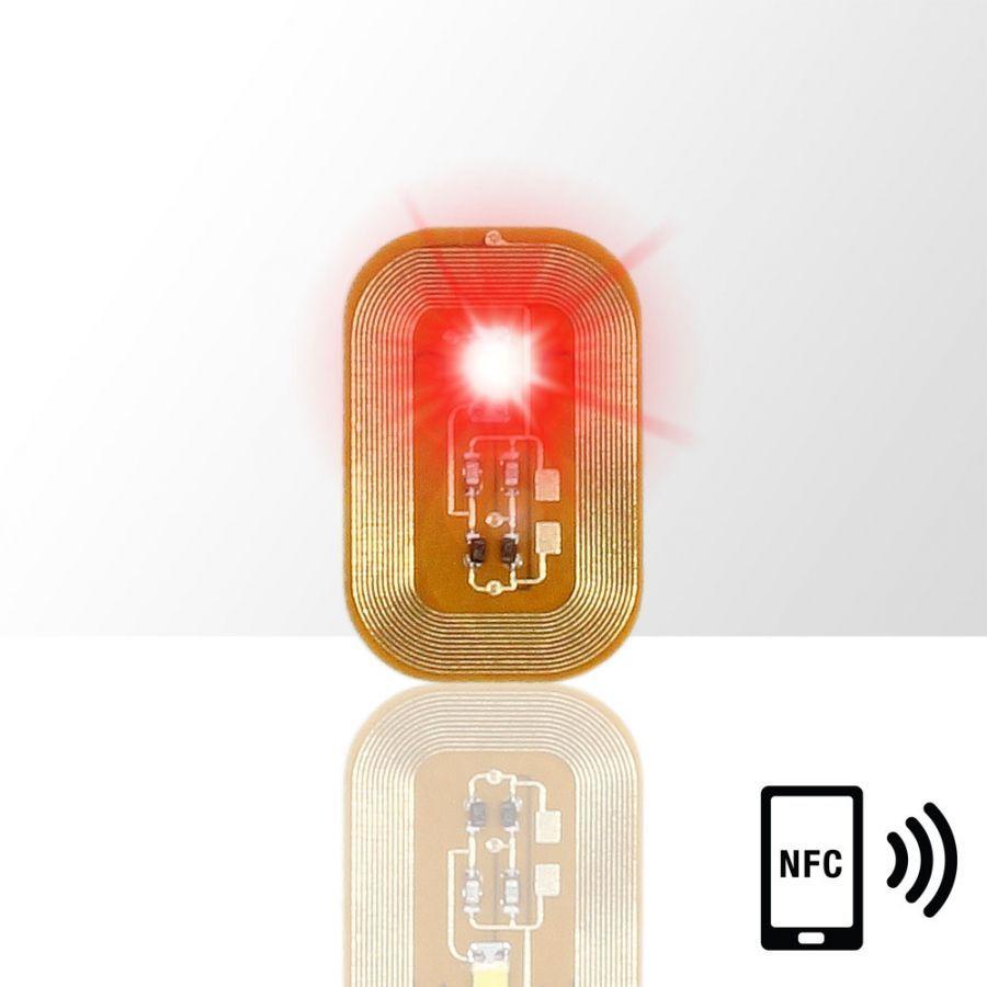 Svítící dioda na nehty NFC