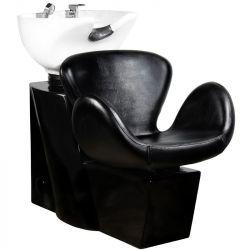 Kadeřnický mycí box GABBIANO AMSTERDAM černý (AS)