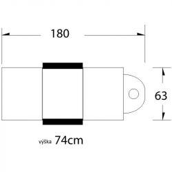 Kosmetické lehátko / křeslo se zásuvkami A 202 černé