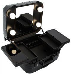 Kosmetický kufr GLAMOUR 9301 černý