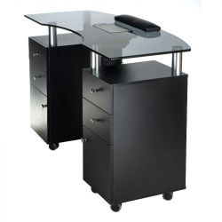 Kosmetický stolek na manikúru BD-3453+P černý