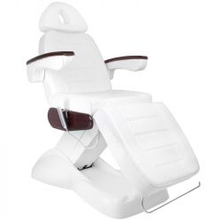 Elektrické kosmetické křeslo LUX bílé / mahagon (AS)