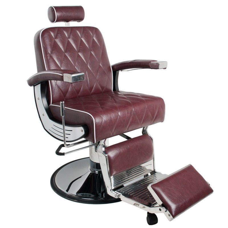 Holičské křeslo GABBIANO IMPERIAL bordó (AS) barbers křeslo