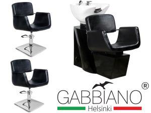 Kadeřnický set 2+1 GABBIANO HELSINKI černý
