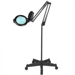 """Lampa s lupou LED MOONLIGHT 8013/6"""" černá na stativu (AS)"""