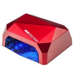 UV LED + CCFL lampa DIAMOND 2v1 36W TIMER + SENSOR červená (AS)