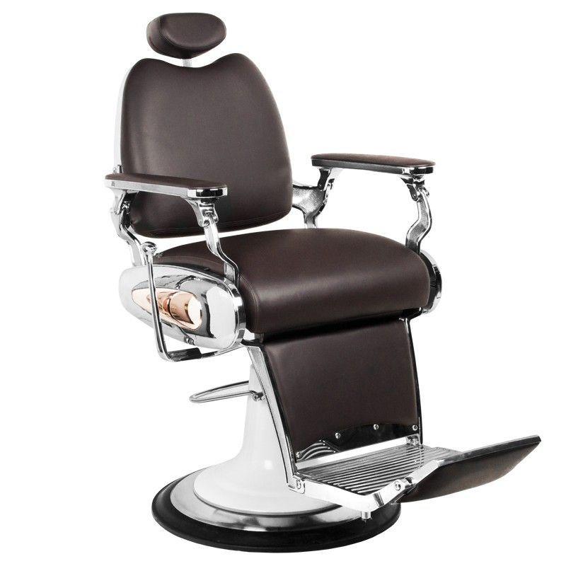 Barbers holičské křeslo MOTO STYLE hnědé