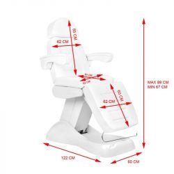 Elektrické kosmetické křeslo LUX 4M bílé s kolébkou