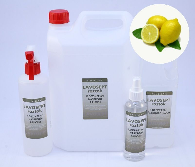 Lavosept® dezinfekce na nástroje a plochy 200 ml sprej - aroma citron