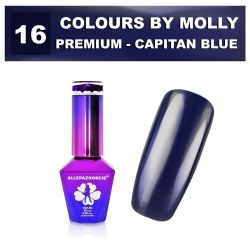 16 Gel lak Colours by Molly PREMIUM 10ml -CAPITAN BLUE- (A)