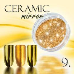 Zdobící prášek na nehty CERAMIC MIRROR - 9. Golden Bronze