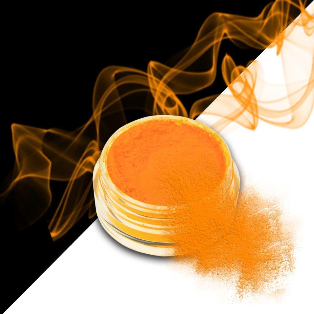 Nehtový pyl SMOKE NAILS - kouřový efekt 04 NEON LIGHT ORANGE