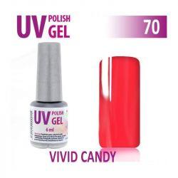 70.UV gel lak na nehty hybridní VIVID CANDY 6 ml (A)