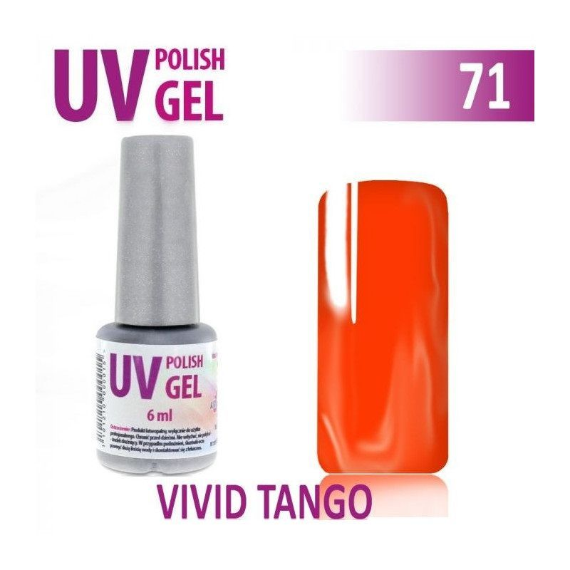 71.UV gel lak na nehty hybridní VIVID TANGO 6 ml