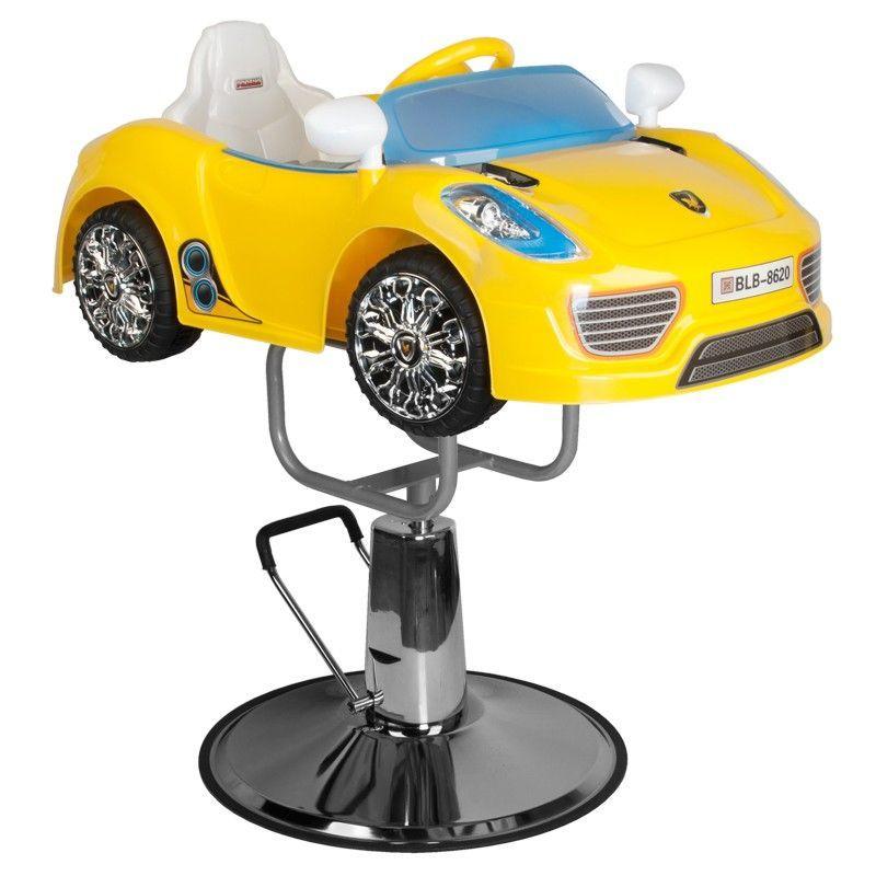Dětský kadeřnický automobil PORSCHE B041C žlutý