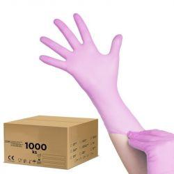 Jednorázové nitrilové rukavice růžové - S - karton 10ks (VP)