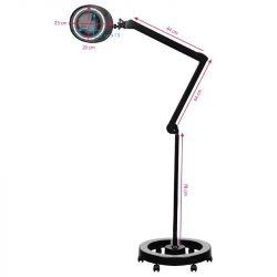 Lampo lupa ELEGANTE 6025 60 LED SMD 5D se stativem černá