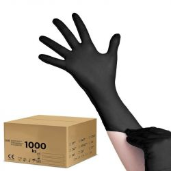 Jednorázové nitrilové rukavice černé - M - karton 10ks (AS)