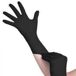 Jednorázové nitrilové rukavice černé - velikost S (VP)