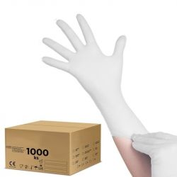 Jednorázové nitrilové rukavice bílé S - karton 10ks (VP)
