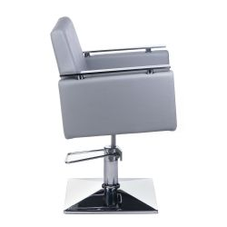 Kadeřnické křeslo MILO BH- 6333 světle šedé