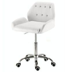 Kosmetická židle LION na podstavě s kolečky bílá