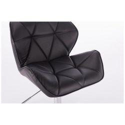 Kosmetická židle MILANO na černém kříži - černá