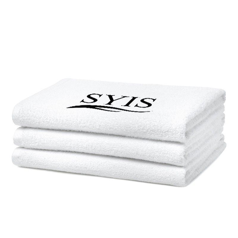 Froté ručník s logem SYIS 50x90 - bílý