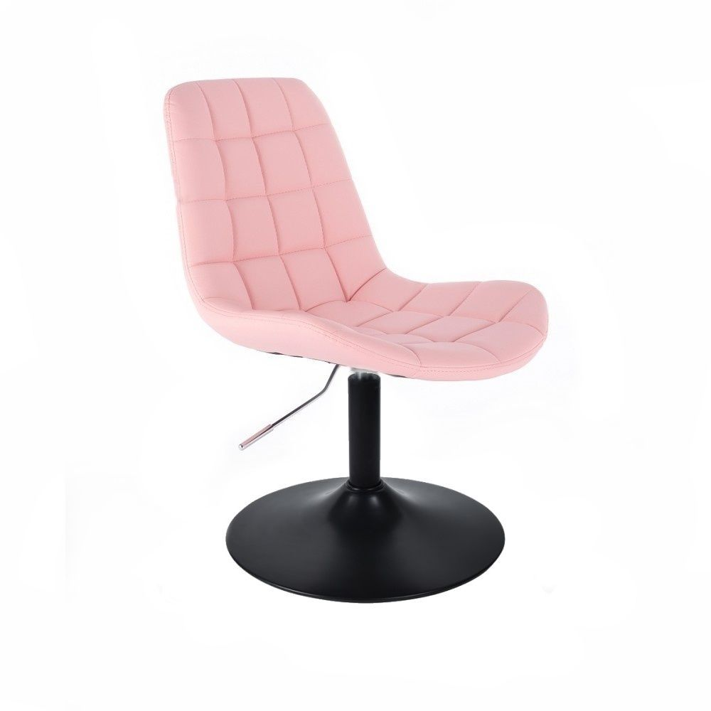 Kosmetická židle PARIS na černém talíři - růžová