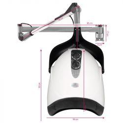 Závěsná vysoušecí helma GABBIANO DX-201W - bílá