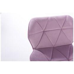Kosmetická židle MILANO VELUR na černém kříži - fialový vřes