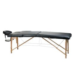 Masážní a rehabilitační skládací stůl BS-523 - černý