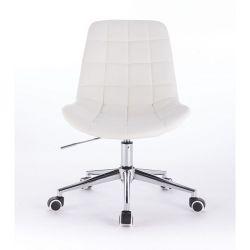 Kosmetická židle PARIS na podstavě s kolečky bílá
