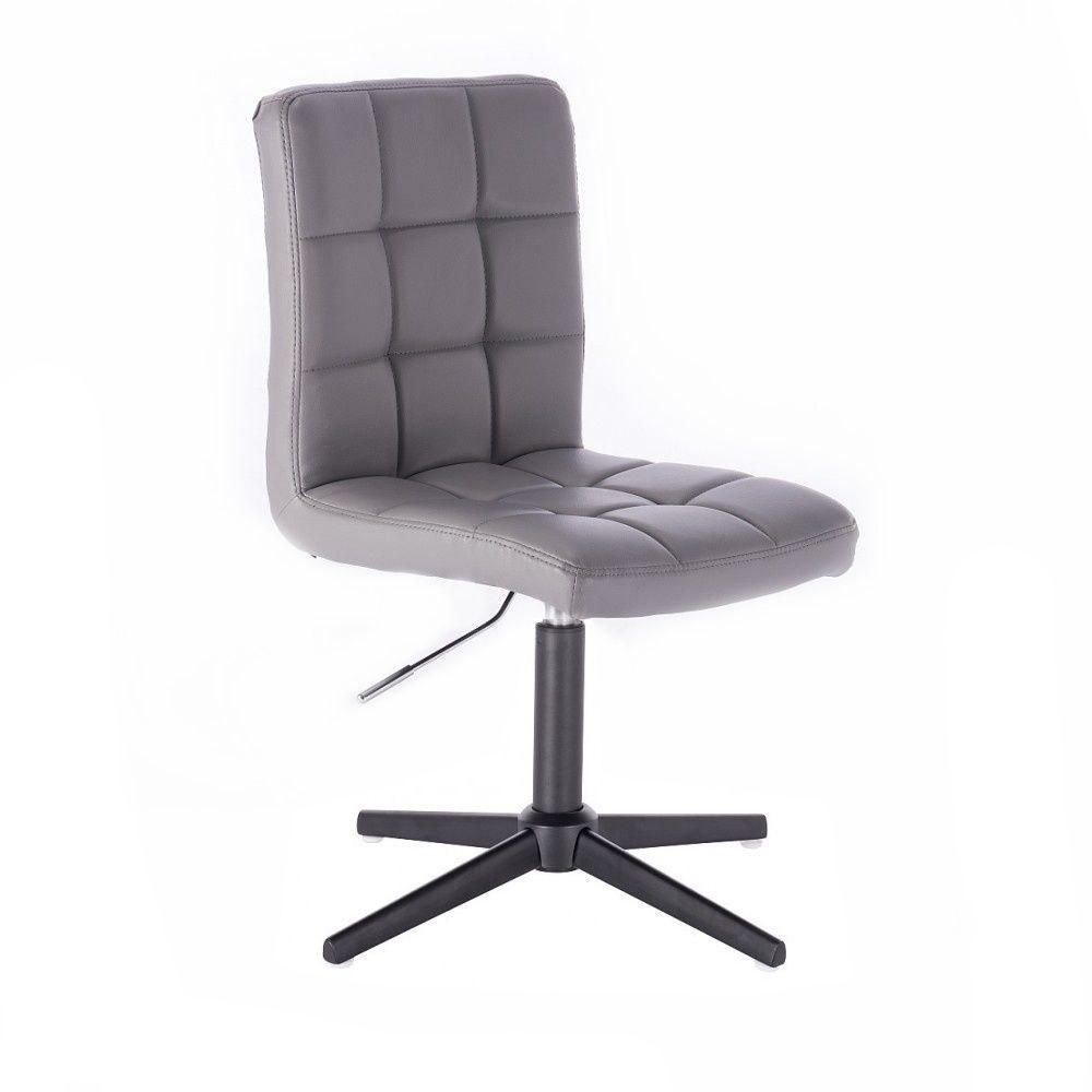 Kosmetická židle TOLEDO na černém kříži - šedá
