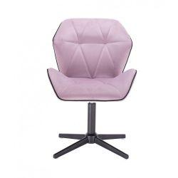 Kosmetická židle MILANO MAX VELUR na černém kříži - fialový vřes