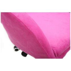 Kosmetická židle VENICE VELUR na černém talíři - růžová